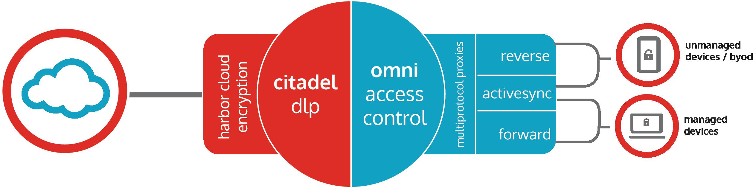 bitglass technical diagram