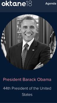 Oktane 2018 Obama