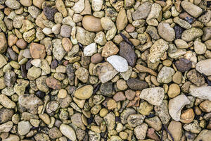 Selection of stones used in construction