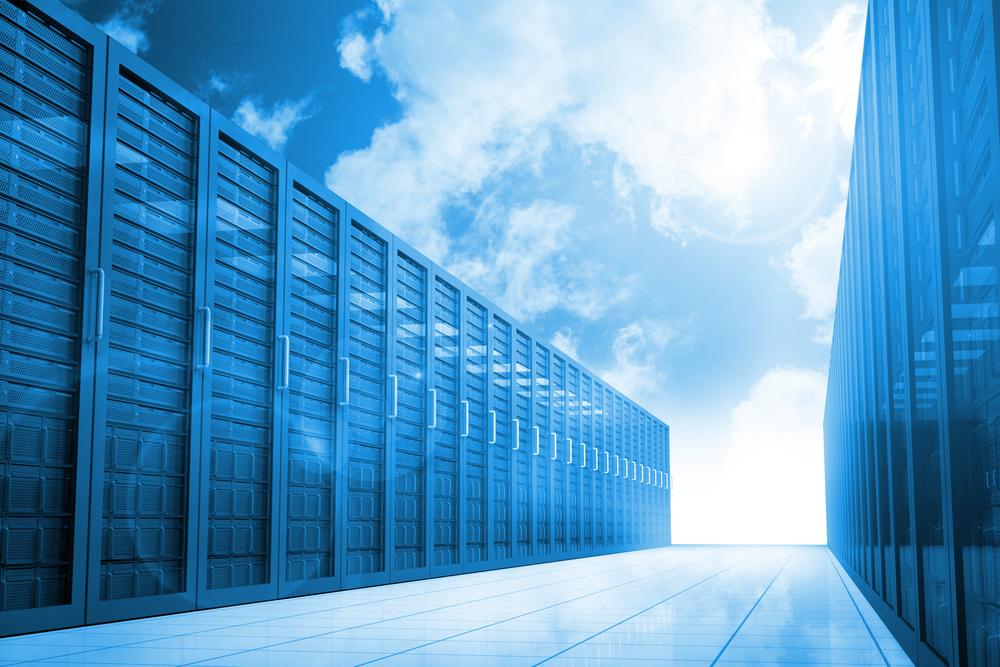 Server hallway in the blue sky-1